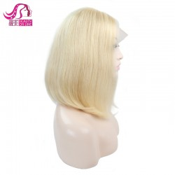 Wholesale 613 Blonde Bob Wig afactory Price Peruvian Human Hair Lace Front Hair Wig